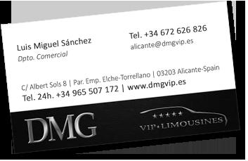 tarjeta corporativa cliente DMG